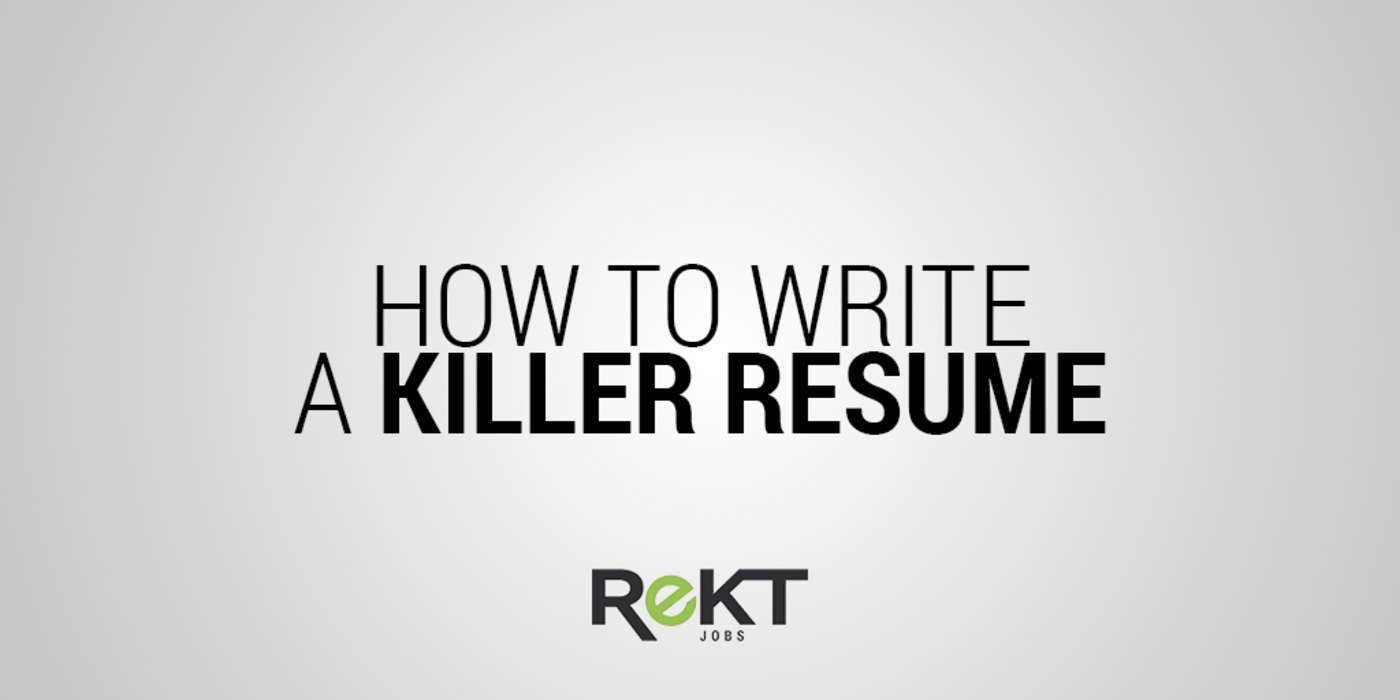 8 tips for writing a killer resume