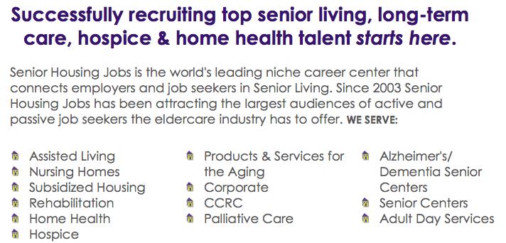 Senior Living Career Center Assisted Living Nursing Home Senior