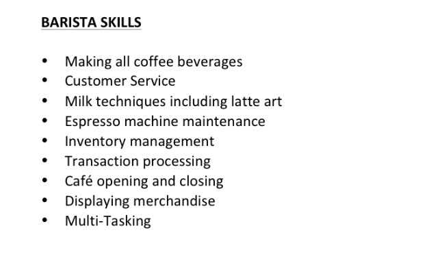 U0027Enployment Historyu0027 Can Be Your Next Section Of Your Barista Resume.  Remember,   Barista Resume Objective